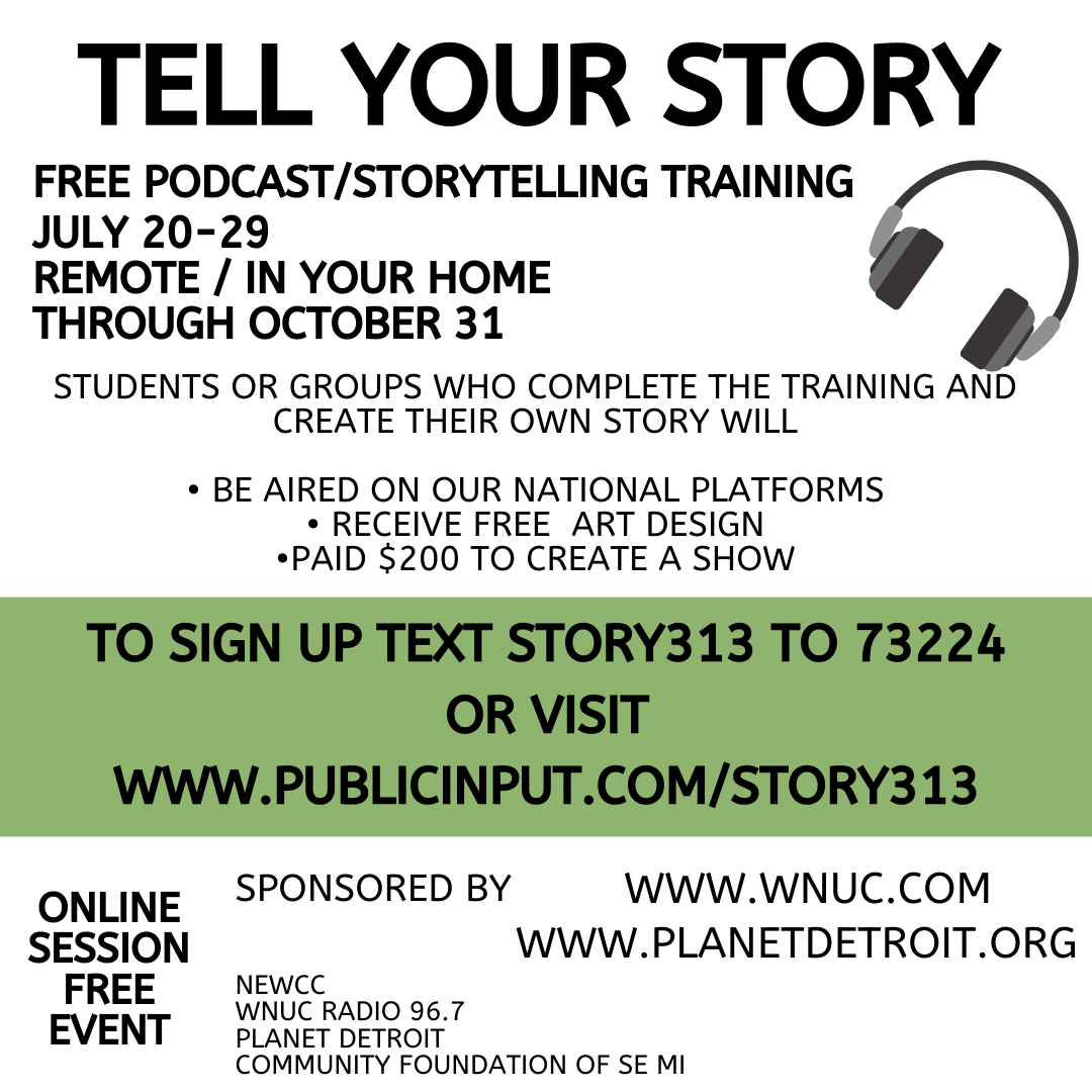 Tell Your Story Flier